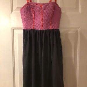 Anthropologie Lilka sz Xs Purple and Blue Dress